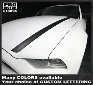 Ford Mustang 2013 2014 Hood Spear Side Stripes Decals Choose Color