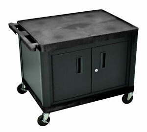 Luxr lp27ceb av Cart With Locking Cabinet 27 H