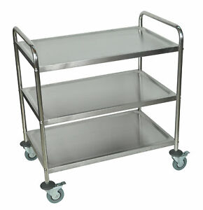 Luxor St 3 Stainless Steel Utility Cart 37 H X 33 5 W X 21 D