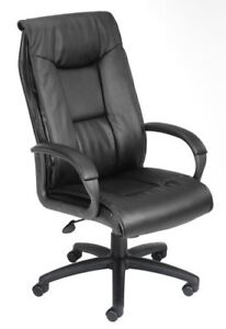 Nors b7601 boss Executive Leather Plus Chair W padded Arm