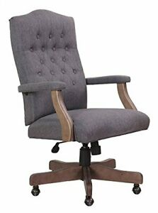 Nors b905dwsg boss Executive Slate Grey Commercial Grade Linen Chair With Drift