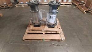 Two Ebara Model Evmul18 6f1500t3s 15hp 3 Phase Vertical Multistage Pumps