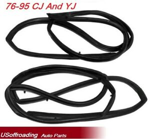 Jeep 76 95 Cj 7 Yj Kd3006 Outer 2 Full Steel Door Seal Kit Drivers Passengers