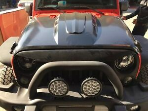 07 17 Avenger Style Jeep Jk Wrangler Cowl Hood Vent Scope Black