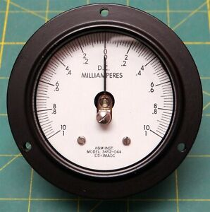 A m Instruments 1 0 10 Dc Millamperes Ammeter P n 182554