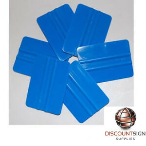 Blue Squeegee Used For Oracal Arlon Avery 3m Vinyls 100 Pack