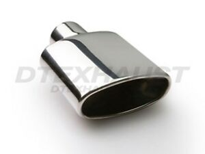 Dt 25085 Round Oval Stainless Steel Exhaust Tip Hi Polished New