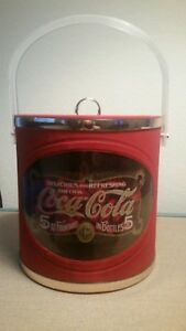 Coca-Cola Ice Bucket  Red & Gold  Vintage-Look Made in USA!