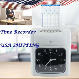 Electronic Employee Analogue Time Recorder Time Lcd Clock W card Monthly weekly