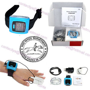 24h Record Wrist Fingertip Pulse Oximeter Spo2 Pr Blood Oxygen Monitor fda Ce