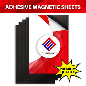 200 Self Adhesive Flexible Magnetic Sheets 4x6 Inches Free Shipping