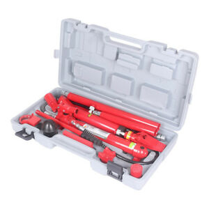 10 Ton Porta Power Hydraulic Jack Body Frame Repair Kit Auto Shop Lift Ram Tool