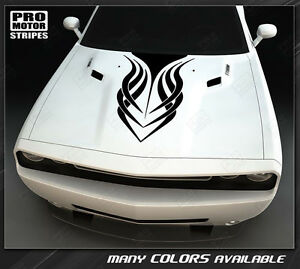Dodge Challenger Tribal Style Hood Stripe Decal 2015 2016 2017 2018 2019