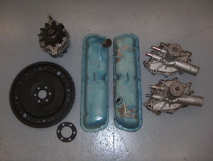 1979 1993 Ford Mustang 302 Engine Parts Shelf Clean Up Water Pump Valves Covers