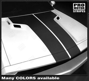 Dodge Challenger Factory Style Hood Stripes Decals 2011 2012 2013 2014 Pro Motor