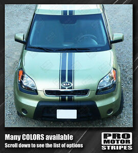 For Kia Soul Over Top Narrow Center Sport Stripes Decal 2008 2009 2010 2011