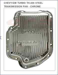 Steel Chevy Gm Turbo Th 400 Transmission Pan Stock Capacity Chrome
