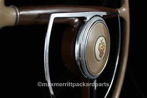 1941 47 Packard Steering Wheel W Horn Ring Emblem Assy Nice