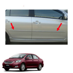 For Toyota Vios Yaris Belta 07 08 13 Body Cladding Side Molding Guard Painted
