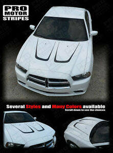 Dodge Charger Hood Scallop Accent Stripes Decals 2011 2012 2013 2014 Pro Motor