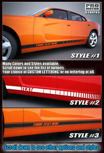 Dodge Charger Rocker Panel Side Accent Stripes Decals 2011 2012 2013 2014