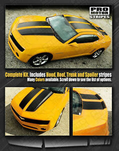 Chevrolet Camaro Rally Racing Stripes Set With Roof 2010 2011 2012 2013 Pro Moto