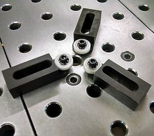 Logan Lathe Engine Lathe 14 Swing Steady Rest Roller Jaws With Soft Bushings