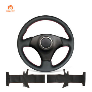 Black Pu Leather Steering Wheel Cover For Toyota Rav4 Celica Caldina Lexus Is200