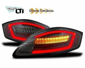 Black Smoked Finish Full Led Tail Rear Lights For Porsche Boxster Cayman 987
