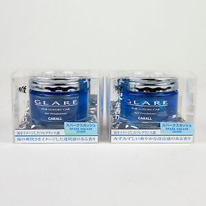 Carall Glare Luxury Car Air Freshener Spark Squash 3085 Made In Japan Qty 2