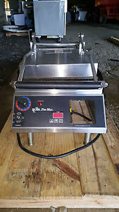Star Pro max Grooved Panini Sandwich Press Grill Electric Cg14it Countertop 240v