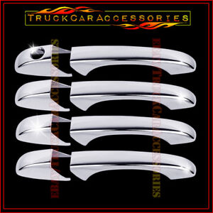 For Jeep Patriot 2007 2008 2009 2010 2011 2012 Chrome 4 Door Handle Covers W O P
