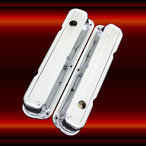 Valve Covers For Small Block Mopar 318 340 360 Chrome Factory Height