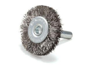 5 Pack 3 Crimped Stainless Steel Wire Wheel Brush With 1 4 Shank