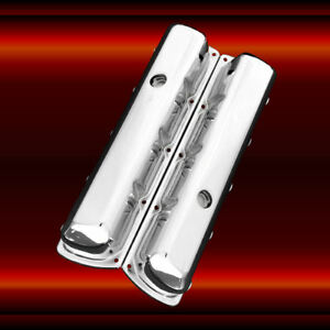 Chrome Tall Valve Covers For Oldsmobile Engines 330 350 455 Olds