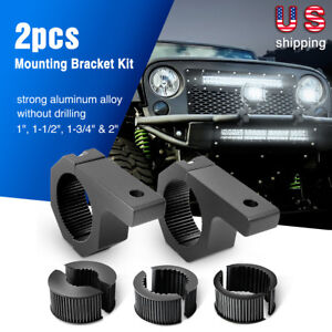 Nilight Led Light Bar 2 Pack Mounting Bracket Kit Tube Clamp Roof Roll Cage Hold