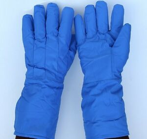 38cm Long Cryogenic Gloves Low Temperature Resistant Cold Proof Nitrogen Protect