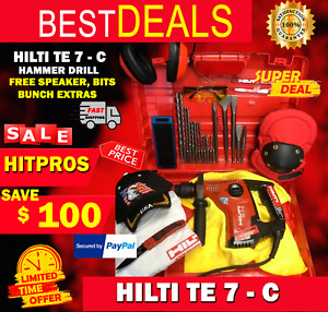 Hilti Te 7 c Hammer Drill Prewoned Free Speaker Bits Bunch Extras Fast Ship