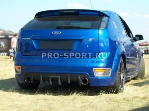 Ford Focus 2 2004 2005 2006 2008 St Hatchback Rear Bumper Diffuser Lip Spoiler