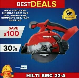 Hilti Cordless Circular Saw Smc 22 a Brand New Complete Set Fast Shipping