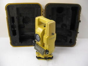 Topcon Gts 302 3 Total Station Complete For Surveying One Month Warranty