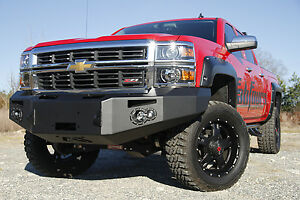 New Fab Fours Premium Heavy Duty Front Bumper Chevy 1500 2014 2015