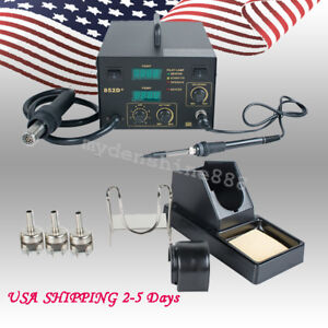 852d 2in1 Hot Air Gun Unit Soldering Rework Station Welding Solder Machine 110v