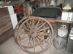 1 Lot Of 5 Wood Wagon Wheels Very Old