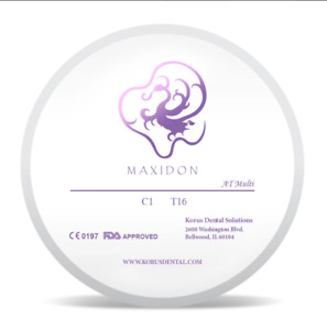 Maxidon Milling Zirconia 98mm Anterior Translucent Multilayer Disk atm