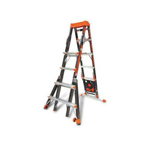 Little Giant 15131 920 Select Step 6 10 Fiberglass Adjustable Ladder W Airdeck