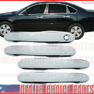 2006 2013 Chevy Impala 4dr Triple Chrome Door Handle Covers