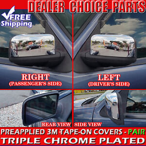 2003 2004 2005 2006 Ford Expedition Chrome Mirror Covers Half Trim Cap Overlay