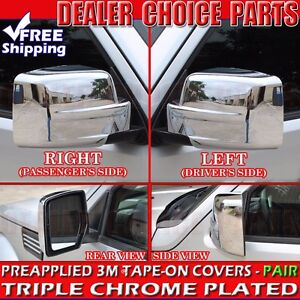 2007 2008 2009 2010 2011 2012 Jeep Patriot Triple Chrome Mirror Covers Overlays