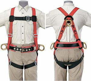 Klein 87810 Fall arrest positioning Harness Small Red